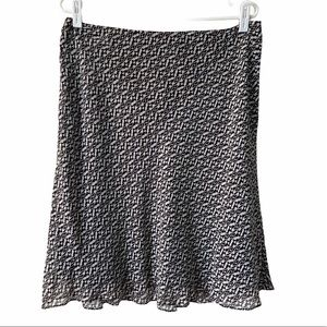 Ann Taylor Petite 100% Silk Brown Skirt, Size 12P